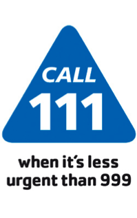 NHS call 111 logo