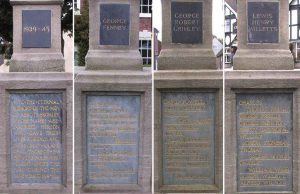 War Memorial inscriptions